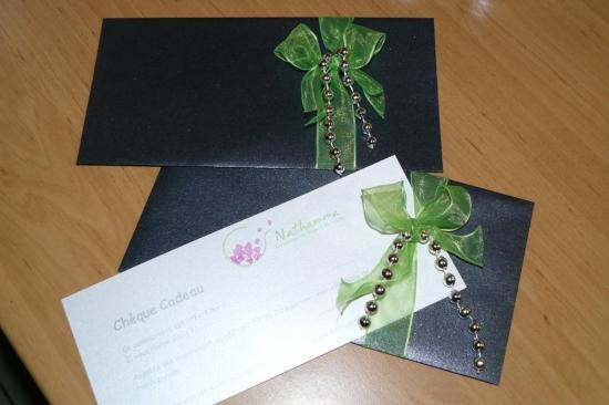 Chèques cadeaux Nathamma à Libramont